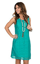 Anne French Sea Breeze Lace Sheath Dress