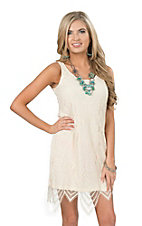 Anne French Women's Natural Lace Dress