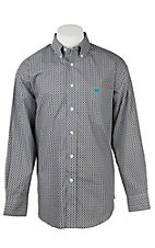 Panhandle Men's Grey Diamond Circle T Western Button Shirt
