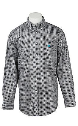 Panhandle Men's Grey Diamond Circle T Western Button Shirt