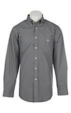 Panhandle Men's Black Geo Print Long Sleeve Western Shirt