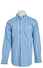 Panhandle Men's Cavender's Exclusive Aztec Paisley Long Sleeve Western Shirt