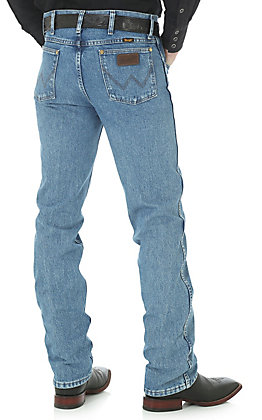 Wrangler Premium Performance Men's Light Stonewash Cowboy Cut Slim Fit Tall Jeans