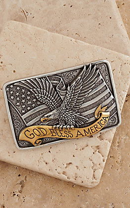 M&F Western Products Two-toned Square Eagle Buckle