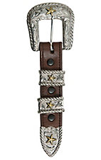 Bar V Ranch by Vogt Silver with Bronze Stars Buckle Set
