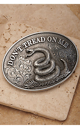 Nocona Silver Don't Tread on Me Oval Belt Buckle