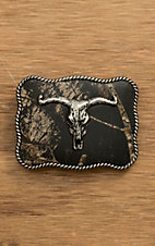 Nocona Kids Camo with Silver Longhorn Skull Rectangular Belt Buckle