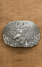 Nocona Silver Eagle American Strong Oval Buckle