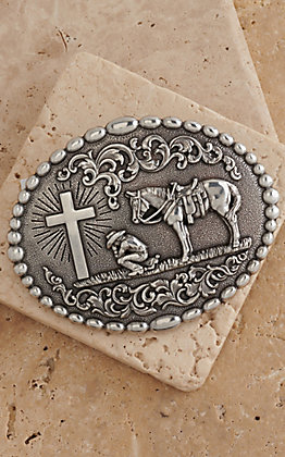 M&F Western Products Inc. Cowboy Prayer Buckle