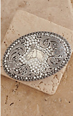 Nocona Ladies Oval Horse Head w/ Rhinestones Buckle 37536