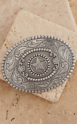 M&F Western Products Oval Star Buckle