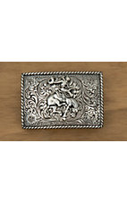 M&F Western Products SIlver Bucking Bronco Buckle
