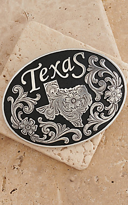 M&F Western Products Texas Black Inlay Oval Buckle