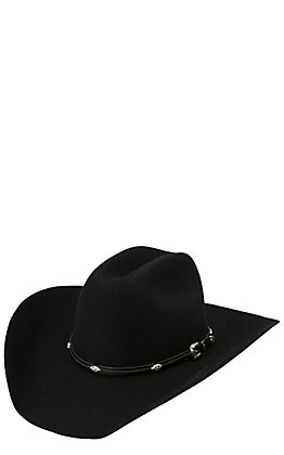 Master Hatters 3X Dawson Black Wool Cowboy Hat