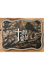 M&F Western Products Camouflage Cowboy Prayer Rectangle Buckle