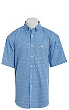 Panhandle Men's Geo Print Short Sleeve Western Shirt