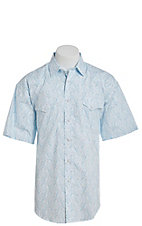 Panhandle Men's Turquoise Paisley Print Short Sleeve Western Shirt