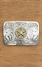 Bar V Ranch by Vogt Silver with Gold Bronze Star Buckle