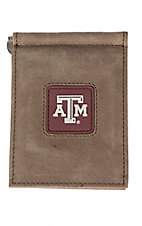 Danbury Collegiate Collection Texas A&M Brown Front Pocket Money Clip