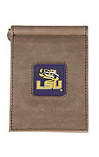 Danbury Collegiate Collection LSU Brown Front Pocket Money Clip