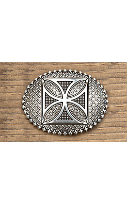 M&F Western Products Silver with Celtic Cross Oval Buckle