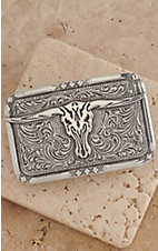 M&F Western Products Inc. Large Skull with Western Tooling Western Buckle