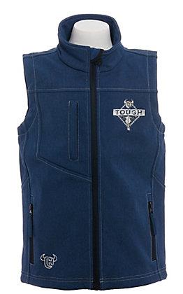 Cowboy Hardware Boy's Cowboy Strong Soft Shell Heather Navy Vest