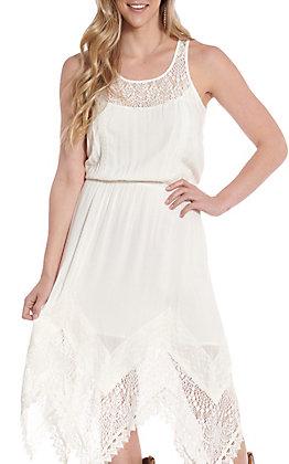Anne French Women's White Lace Tank Dress