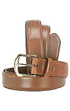 3-D Tan Distressed Leather Belt