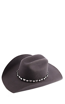 3D Belt Co. Black Leather & Silver Link Hatband