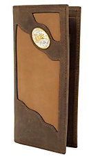 3D Dark Brown Two Tone Roper Wallet 3DTW80C1