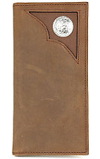 3D Men's Roper Wallet Bay Apache With Inlay & Concho