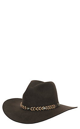 Rodeo King 3X Tracker Chocolate Brown Banded Long Oval Wool Cowboy Hat