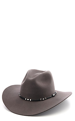 Rodeo King 3X Tracker Slate Grey Wool Blend Cowboy Hat