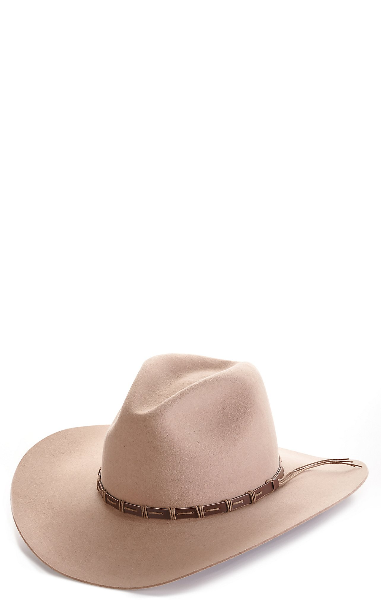 Rodeo King 3X Tracker Pecan Banded Long Oval Wool Cowboy Hat 5dc16d92380
