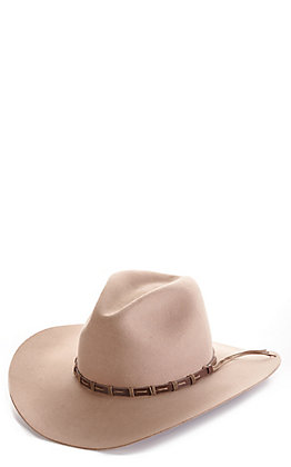 Rodeo King 3X Tracker Pecan Banded Long Oval Wool Cowboy Hat