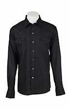 Garth Brooks Sevens by Cinch Men's Black Jacquard Paisley Print Long Sleeve Western Snap Shirt