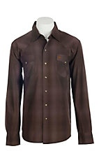 Garth Brooks Sevens by Cinch Men's Brown Long Sleeve Western Snap Shirt
