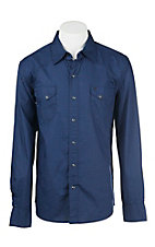 Garth Brooks Sevens by Cinch Men's Blue and Black Circle Print Long Sleeve Western Snap Shirt