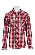 Garth Brooks Sevens by Cinch Men's Red Plaid Long Sleeve Western Snap Shirt