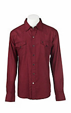 Garth Brooks Sevens by Cinch Men's Red Jacquard Paisley Print Long Sleeve Western Snap Shirt