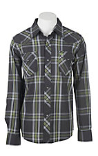 Garth Brooks Sevens by Cinch Men's Black Paisley Print L/S Western Snap Shirt