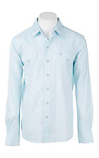 Garth Brooks Sevens by Cinch Men's Light Blue Print L/S Western Snap Shirt