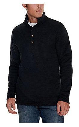 Stetson Men's Charcoal Grey 1/4 Button Down Long Sleeve Pullover Sweater
