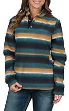 Outback Trading Company Women's Audrey Henley Striped Pullover