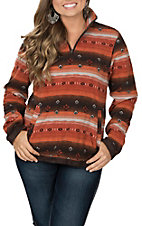 Outback Trading Company Women's Jessamine Henley Rust Pullover