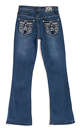 Cowgirl Hardware Girl's Medium Wash Phoenix Embroidery Bootcut Jeans