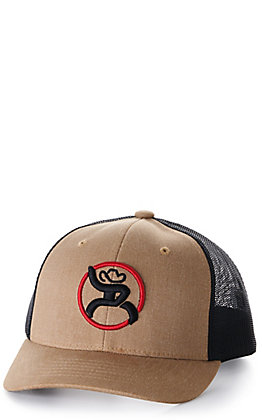 Hooey Youth Tan and Black Strap Roughy Snapback Cap