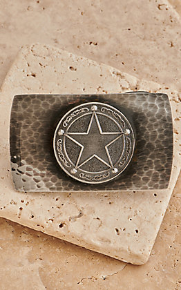 Montana Silversmiths River Rock Small Rectangule Texas Concho Star Buckle