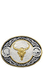 Montana Silversmiths Silver & Black Buffalo Nickel Buckle